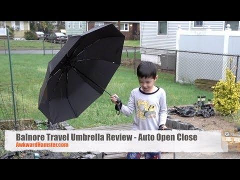 Balnore Travel Umbrella Review - Auto Open Close