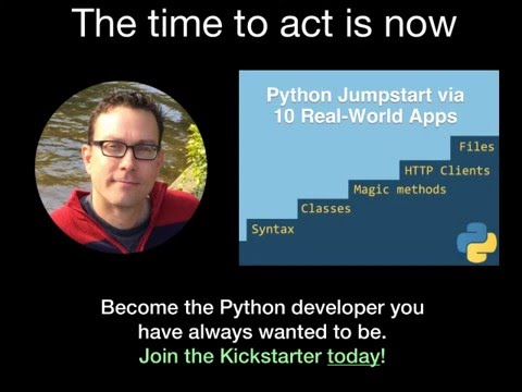 Kickstarter: Python Jumpstart by Building 10 Apps [video course]