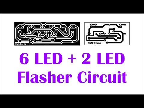 6 LED + 2 LED Flasher Part #1 Circuit in Hindi Electronics ELECTROINDIA | Circuit Wizard part#2