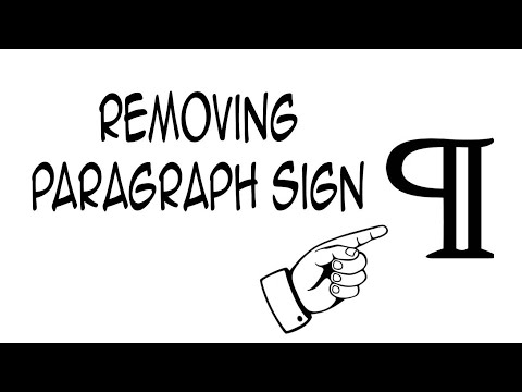 Removing Paragraph marks in 5 seconds