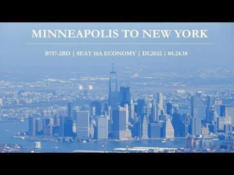 My First Flight to New York | Minneapolis(MSP) - New York(JFK) | 04.24.2018