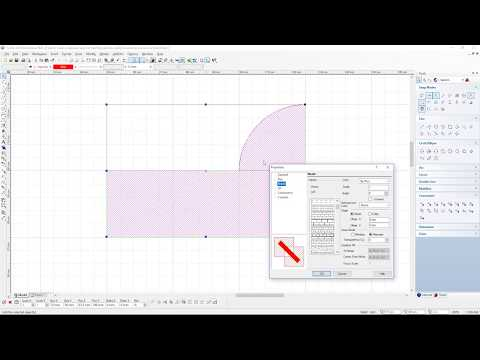 How to create a seperate layer for hatching and do a polyline around a curve
