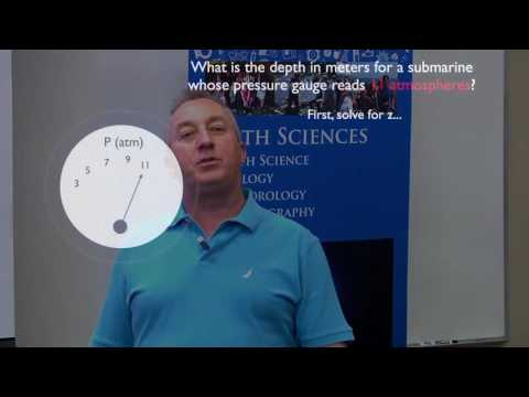 Calculating Depth from Water Pressure (in Atmospheres)
