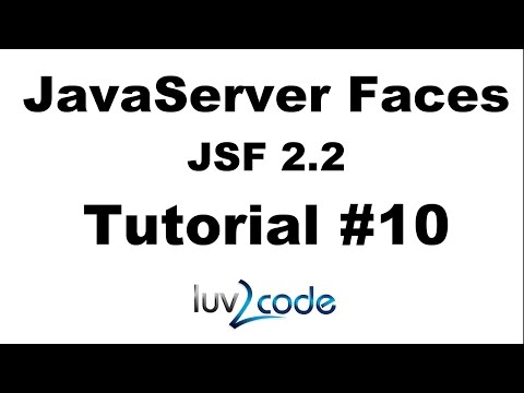 JSF Tutorial #10 - Java Server Faces Tutorial (JSF 2.2) - JSF Hello World Example