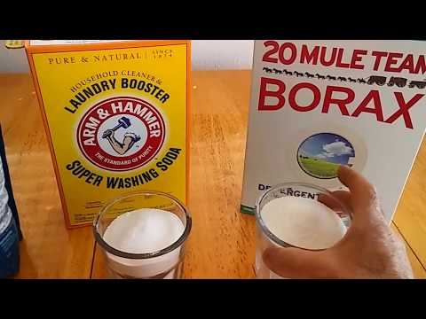 Helathy, DIY Dish Washing Soap, Using Borax, Washing soda ... (save money too :)