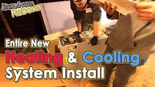 HEATING AND COOLING - A New FORCED AIR FURNACE From Start To Finish