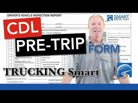 How to Fill Out the CDL Pre-trip Inspection Form   CDL Road Test Smart