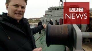 Crimea: On board blockaded Ukrainian ship - BBC News