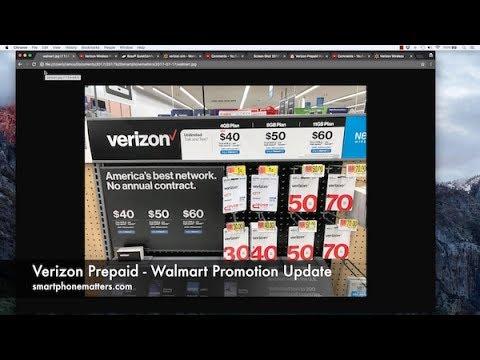 Verizon Prepaid - Walmart Promotion Update