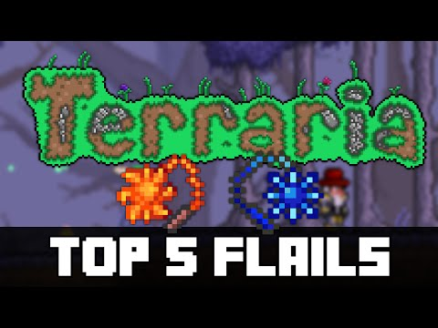 Top 5 FLAIL WEAPONS in Terraria!  (PC, MOBILE, CONSOLE)