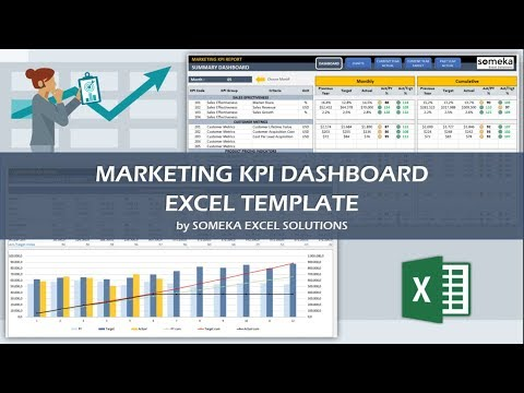Marketing KPI Dashboard | Ready-To-Use Excel Template