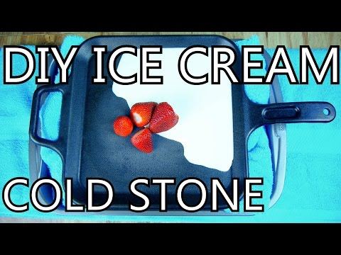 How To Make Ice Cream With A Frying Pan [DIY Cold Stone] - NightHawkInLight