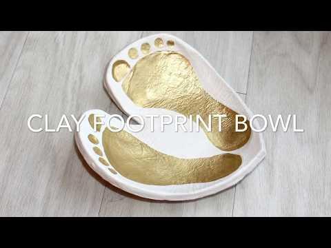 DIY CLAY HEART FOOTPRINT BOWL - EASY KIDS KEEPSAKE CRAFT