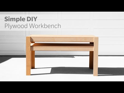How To Build A DIY Workbench Out Of Plywood - Woodworking