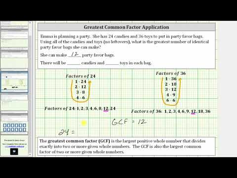 Greatest Common Factor Application - Factor Method Only