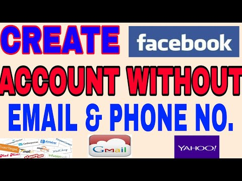 CREATE FACEBOOK ACCOUNT WITHOUT EMAIL & PHONE NO.