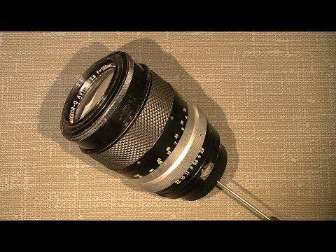 Stiff focus ring in Non-Ai Nikkor-Q Auto 1:2.8 f=135mm__PART_1_Disassemble