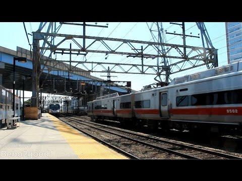 Amtrak Regional, New Haven & Waterbury Train Set at Bridgeport, CT RR