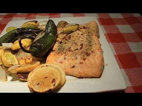 Salmon & Yellow Squash Air Fryer ~ Easy / Delicious