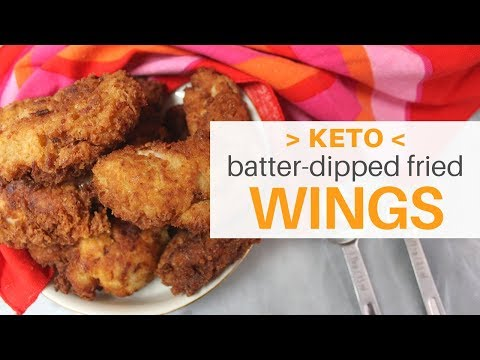 Fried *Keto* Party Wings   Super Bowl Approved   **5 WINGS, 4 CARBS**   #CARBQUIK   #KETOGENICDIET
