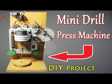 How to Make a Drill Press Machine At home | Use DVD CMS & 12volt Motor | DIY Drill Project