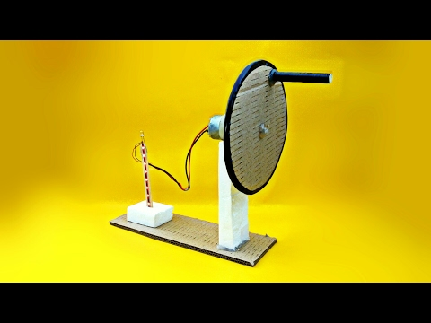 How To Make A Electric Generator (Hand Operated) At Home