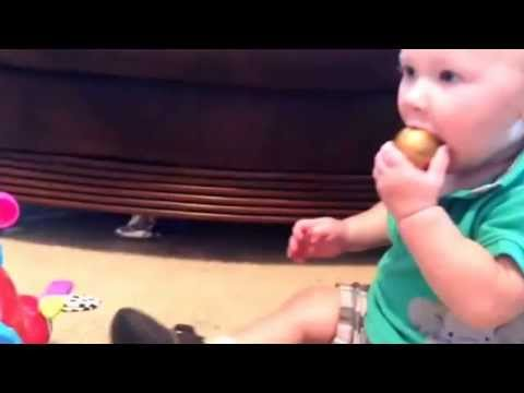 Baby Finn playing