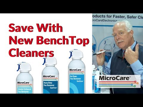 MicroCare™ Introduces New Cost-Saving Products for Electronics Benchtop Cleaning