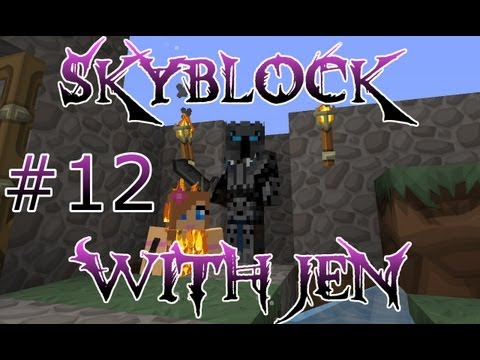 Skyblock With Jen - Snow Golem Suicide - Minecraft Let's Play - Ep. 12