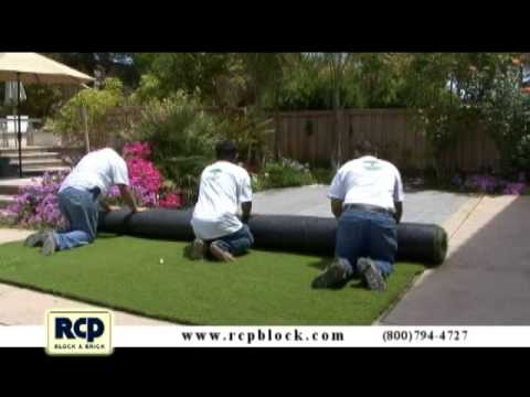 How to Install Artificial Grass - RCP Block & Brick