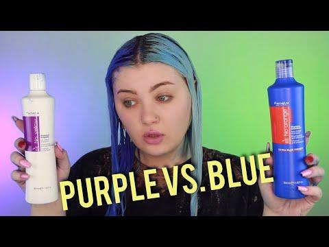 Blue vs. Purple Shampoo