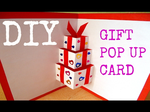 DIY gift pop up card | Handmade card | DIY birthday card | DIY 3D card | DIY crafts | Paper crafts