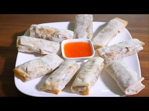 Non Greasy Baked Vegetable Spring Rolls Recipe