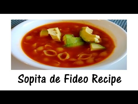 Simple Mexican Vegan Pasta Soup - Sopita de Fideo Recipe (English)
