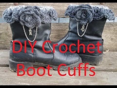 DIY Crochet Boot Cuffs Tutorial