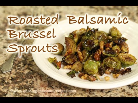 Recipe for Roasted Balsamic Brussel Sprouts With Walnuts | Rockin Robin Cooks