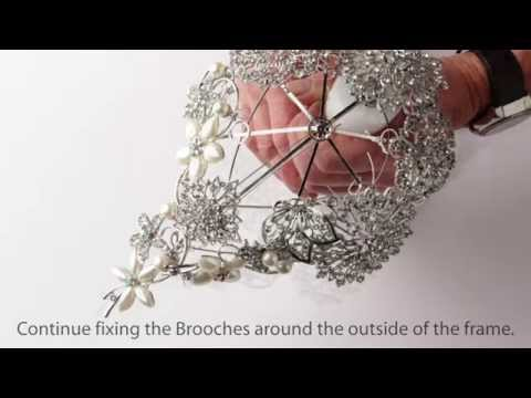 How To Use Our Tear Drop Shaped Brooch Bouquet Kit