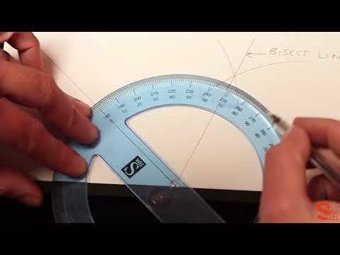How to measure and cut a skirting board for an internal wall joint by bisecting an angle