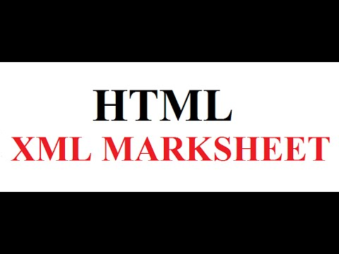 How to Display XML marksheet in HTML