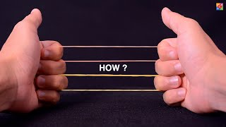 10 EASY RUBBER BAND MAGIC TRICKS THAT WILL IMPRESS YOUR FAMILY