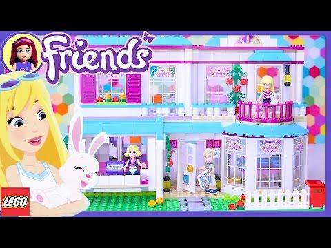 Lego Friends Stephanie's House Build Setup Review - Kids Toys