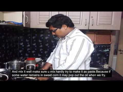 Andhra Sweet Corn Pakora (English Subtitles)