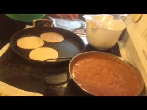 Gorditas de masa a la Mexicana con frijoles