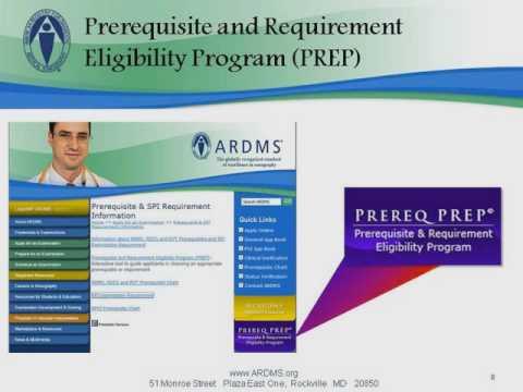 ARDMS Online Tutorial Video