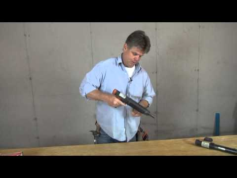 Fastening basement walls to concrete floor with a Ramset Gun!