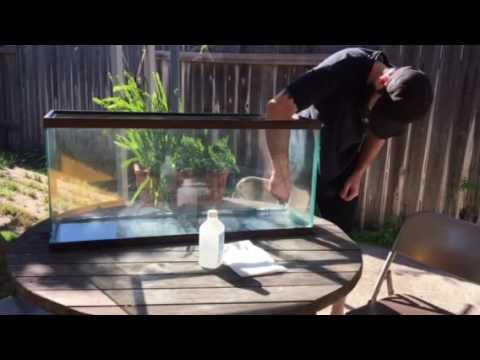How to reseal an old aquarium