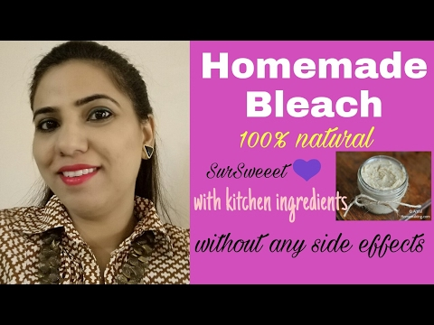 How to make bleach at home | 100%natural | घर मे ब्लीच बनाए | kitchen  ingredients | SurSweeet 💕