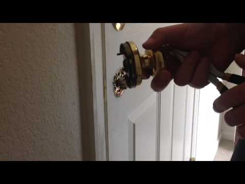 Ultra max door knob removal and reinstall