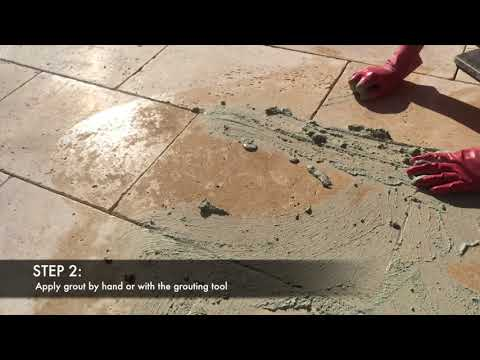 How To Grout Travertine Pavers