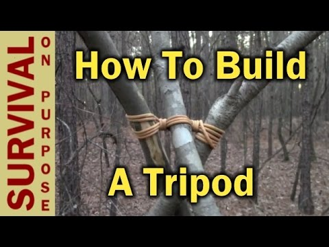 How To Make A Tripod - How To Tie A Tripod Lashing Like a Boy Scout
